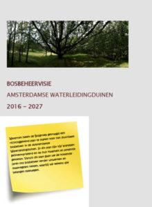 bosbeheer visie Waterleidingduinen 2017