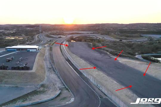 circuit asfalt stort op leefgebied zandhagedis