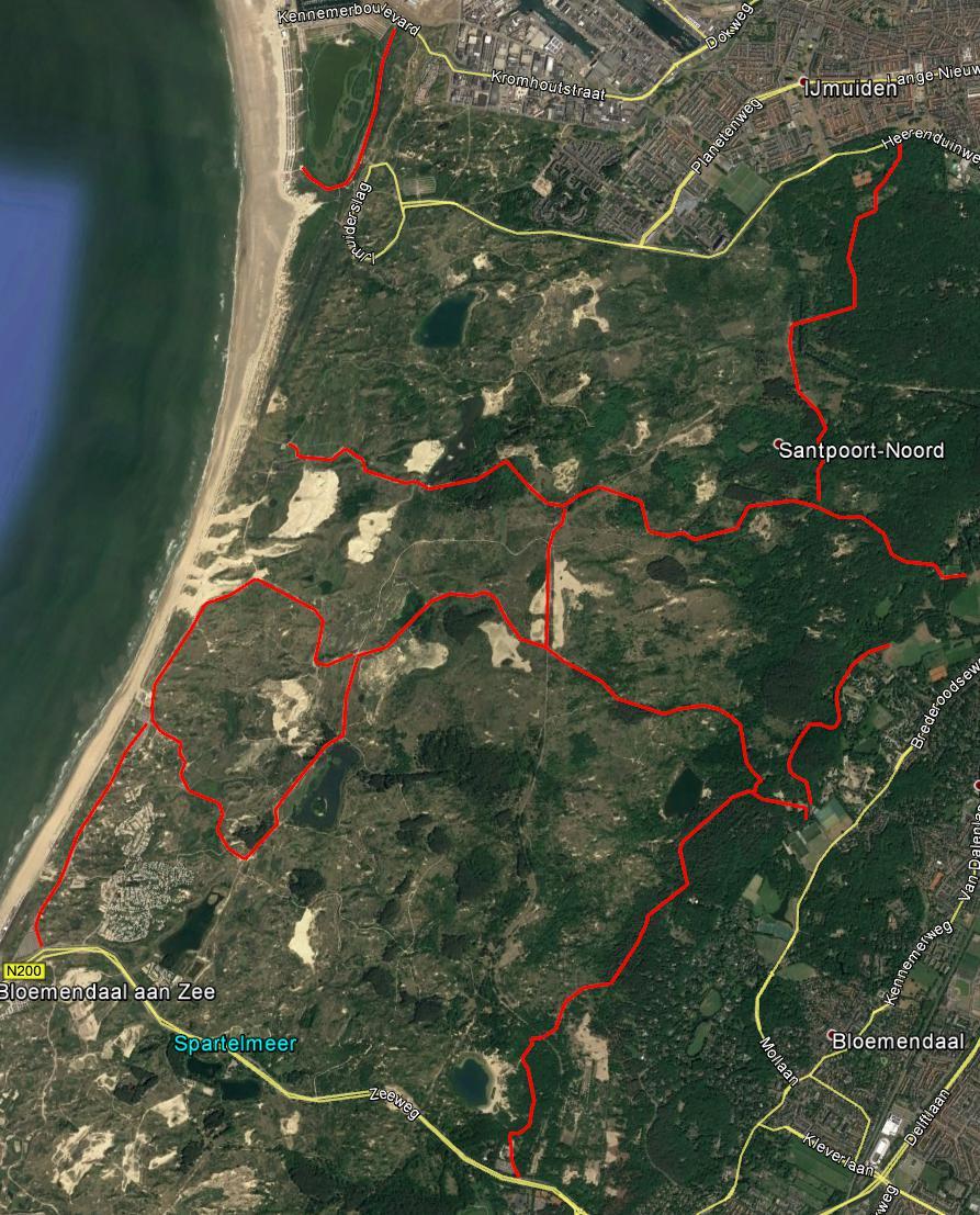 Nationaal park Zuid-Kennemerland, beklinkerde paden